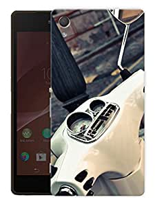 """Humor Gang Retro Scooter Meter Printed Designer Mobile Back Cover For """"HTC DESIRE 828"""" (3D, Matte Finish, Premium Quality, Protective Snap On Slim Hard Phone Case, Multi Color)"""