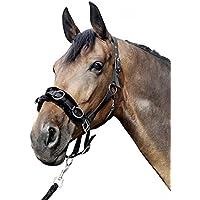 HKM Sports Equipment 1167HKM–Serreta de Nailon con Afelpada, Negro, Pony