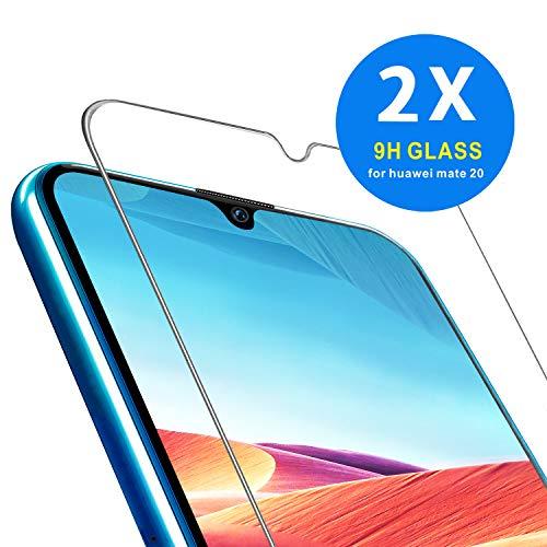 ONKING Folie für Huawei Mate 20 Panzerglas, AGC Glas HD Schutzfolie [2 Pack] Anti Kratzer Bildschirmschutzfolie für Huawei Mate 20 Panzerglas Schutzglas Clear