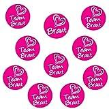 Oblique-Unique® 1 x Braut & 9 x Team Braut Sticker für Junggesellenabschied I Hochzeit I Anstecker -