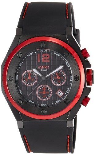 Esprit Herren-Armbanduhr Chronograph Quarz Kautschuk ES104171002