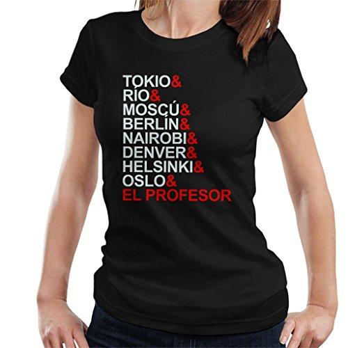 La Casa De Papel Character List Women's T-Shirt