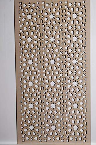 LaserKris Armoire Murale décorative pour radiateur Panneau MDF perforé 4 x 2 E55M