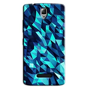 ABSTRACT BLUE BACK COVER FOR LENOVO A2010