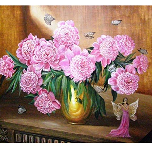 CHUDU Malen Nach Zahlen Erwachsene Blumenfee Auf Leinwand Kits Sammlung Klassische Kunst Modernes Geschenk 40x50 cm