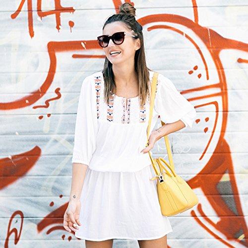 ShouYu Badeort Strand jacke Bekleidung bikini, decken Sie das weiße Sun Yi Frauen lange Reisen, Badesachen, Masse, eine Größe von Baumwolle Brust Stickerei (Handwerk Brust Decke)