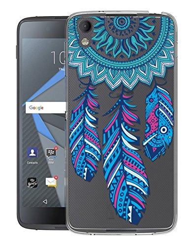 Sunrive Für BlackBerry DTEK50 Hülle Silikon, Transparent Handyhülle Schutzhülle Etui Case Backcover für BlackBerry DTEK50(TPU Traumfänger)+Gratis Universal Eingabestift