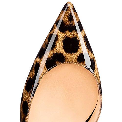 EKS , Escarpins pour femme Leopard-Lackleder