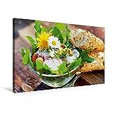 Premium Textil-Leinwand 75 cm x 50 cm quer, Frischer Frühlingssalat | Wandbild, Bild auf Keilrahmen, Fertigbild auf echter Leinwand, Leinwanddruck: Gesunde Küche (CALVENDO Lifestyle)