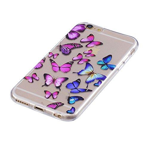 Cover per iPhone 6s Plus / iPhone 6 Plus Silicone Case , YIGA Moda Blu Dreamcatcher Cristallo Trasparente Cover Cassa Silicone Morbido TPU Case Caso Shell Protettiva Custodia per Apple iPhone 6s Plus  FD56