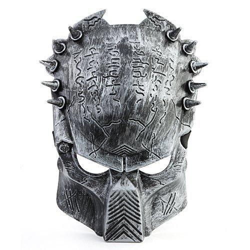 PREDATOR ALIEN Softair Maske Totenkopf Schädel Vollschutzmaske Silber Militär Paintball Horror (Alien Maske Halloween)