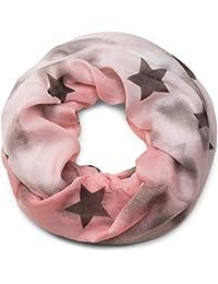 styleBREAKER Loop Schlauchschal mit Sterne und Vintage Farbverlauf Muster, Schal, Tuch, Damen 01017034