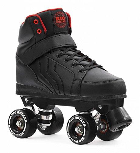 Rio Roller Kicks Quads Rollschuhe Disco Roller schwarz black, 42