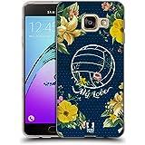 Head Case Designs Fleur De Volley Florals Sportif Étui Coque en Gel molle pour Samsung Galaxy A3 (2016)