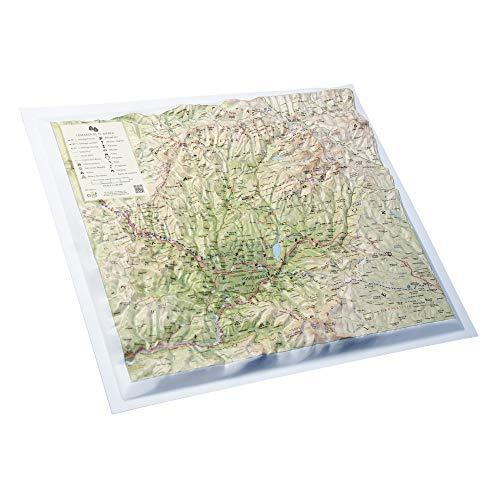 Mapa en relieve El Bierzo