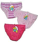 3 tlg. Slip / Unterhosen - Schlumpfine - Größe 6 bis 8 Jahre - Gr. 122 bis 140 - 100 % Baumwolle - für Kinder Pants Unterhose Slips die Schlümpfe / Schlumpf Mädchen - Slips 3er Pack