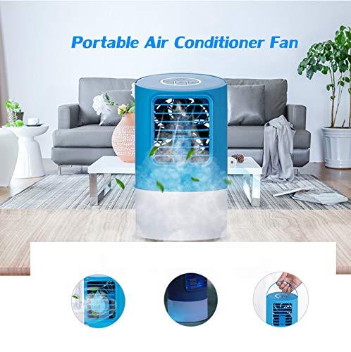 Eu/uk stecker tragbare 7 farben led lichter klimaanlage lüfter mini luftkühler mit 3 windgeschwindigkeiten luftkühlung luftbefeuchter