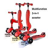 ZLL Calcio regolabile per calciatore pieghevole per scooter-scooter, sedersi/stare in piedi per 2-8 anni Ragazza anziana, volante gonfiabile per grandi scossoni, surf per auto/bambino, carico 80