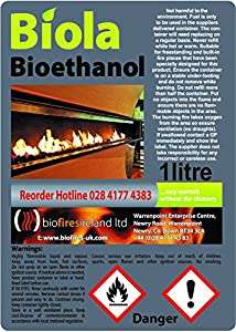 48L PREMIUM BIOETHANOL FUEL FREE DELIVERY UK & IRELAND. Smoke-Free, Odour-Free Bioethanol Fuel