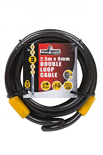 Fort Knox 770712,5m x 40mm Double Loop-Kabel-Schwarz -
