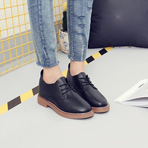 Hunpta Frühling Frauen Mode flachem Absatz Schuhe Casual Frauen Schuhe Spitze Schuhe Schwarz