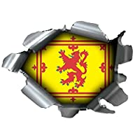 BURST RIP TORN TEAR STICKER GRAPHIC SELF ADHESIVE FOR ANY SURFACE INCLUDING LAPTOPS AND CARS - ROYAL STANDARD OF SCOTLAND LION RAMPANT OF SCOTLAND BANNER OF THE KING OF SCOTS FLAG