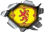 Speed Demons Rip de vetas de ráfaga de Pride Tear adhesivo Graphic autoadhesivo para cualquier superficie, incluyendo portátiles y Cars–estandarte Real de Escocia León RAMPANT de Escocia Anuncio De El Rey de bandera de maciza