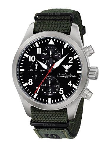 KHS Reloj para Hombre Analógico Cuarzo con Brazalete de Nylon KHS.AIRSC.NXTO1