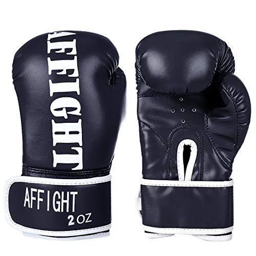 Haunen Kinder Boxhandschuhe 2 Unzen Kinder-Boxhandschuhe aus PU-Leder für Boxen/Kickboxen/MMA/Sparring/Sandsack Sport, für Kinder von 3-7 Jahre