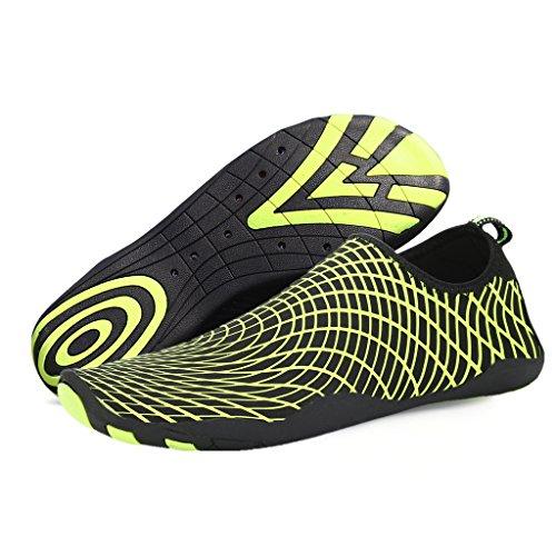 SAGUARO® Unisex Aqua Water Shoes Traspirante Rapida Asciugatura Scarpe da Spiaggia Nuotare Surf Yoga Antiscivolo Estate Donna Uomo Giallo