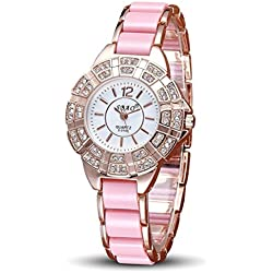 HARRYSTORE Fashion Diamond Bracelet Watch Women 's Leisure Gorgeous Quartz Wrist Watch
