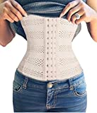 Gotoly Plus Size Long Torso Waist Trainer Fitness Body Shaper For Hourglass (Medium, Beige)
