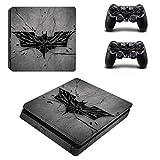 Autocollant Batman Vinyle PS4 Slim Skin Sticker pour Playstation 4 Slim Console et 2 Skins Manette pour PS4 Slim Skin, PS4 Pro Skin, Ps4 Skin Sticker A513...