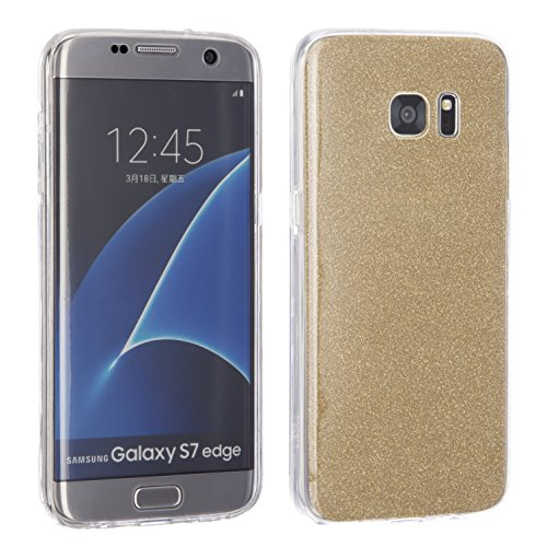 Galaxy S7Edge [ Sparkle Gold ] NWNK13® Silicone 360° for sale  Delivered anywhere in UK