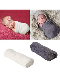 28f4077198 puseky 2pcs Puntelli Photo Neonato Wraps & Fotografia Tappetino, Puntelli  per foto Baby Swaddle Wraps