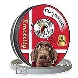 Rmolitty Collar Antiparasitario para Perro, contra Pulgas, Garrapatas y Mosquitos 8 Meses de Protección, 60cm para Pequeña Medio Grande Perro (60cm)