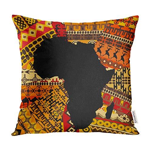 Kinhevao Cojín Decorativo Mapa Abstracto África