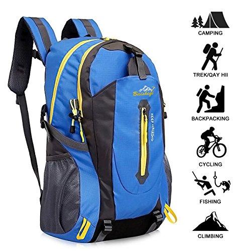 Yunplus 40l leggero zaino da escursionismo, multifunzionale impermeabile casual campeggio trekking zaino per ciclismo viaggio arrampicata mountaineer sport all' aria aperta, uomo, blue