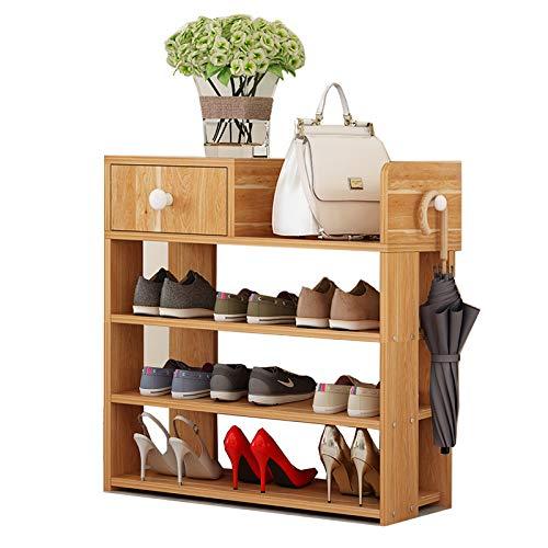 TQ Schuhschränke Schuhregal Organisatoren Home Furniture Chaussure Rangement Holz Schuhe Schrank Strumpfchage Chaussure Veranstalter,4layers - Holz Schrank Veranstalter