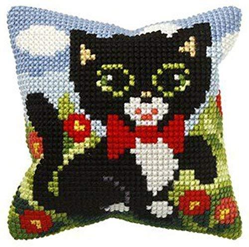 Kätzchen mit Schleife Kissenbezug 10