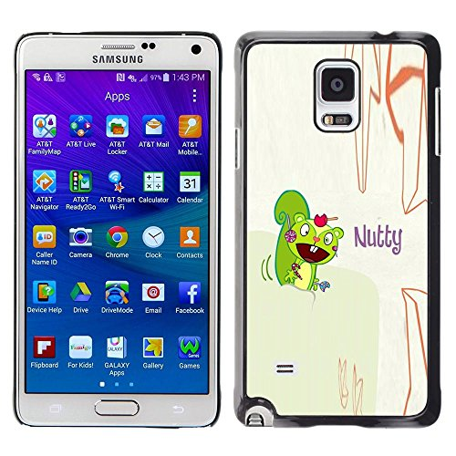 GooooStore/Dura Custodia Rigida della copertura della cassa - Squirrel Mad Funny Quote Cartoon Drawing - Samsung Galaxy Note 4 SM-N910