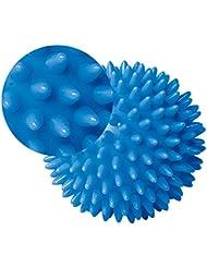 kalaixing® Pelota de masaje, duro estrés bola 8.0cm para fitness Deporte Ejercicio. Yoga Gimnasio y Fitness Deporte Ejercicio. Terapia de autismo -- Azul