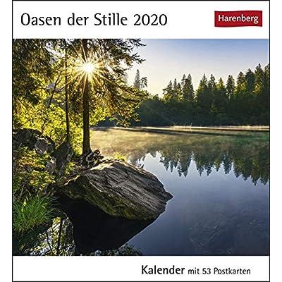 Oasen der Stille 2020: Kalender mit 53 Postkarten