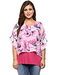 Alto Moda by Pantaloons Women's Outer georgette, inner viscose Blouse