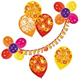 Riethmüller 450006 - Decoration Set Happy Birthday, Garland, Balloons