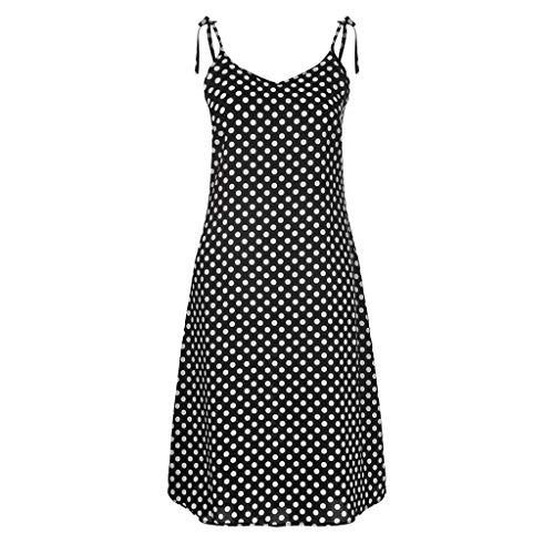 Sommer Kleid Kleider Sommerkleid Damen Vintage Sexy T Shirt V Ausschnitt Bandeau Dots Petticoat Minikleid Blumen Tunika A Linien Sexy Asymmetrische Strandkleider -