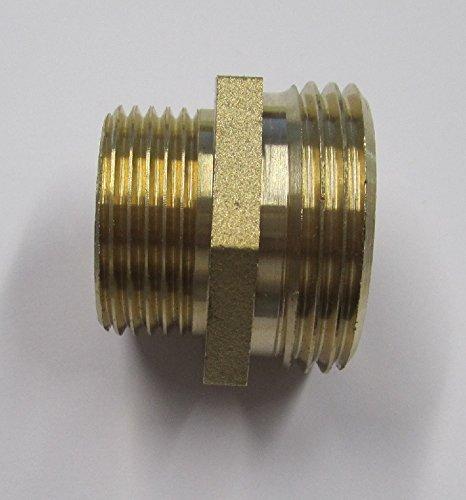 Schraubverbindung Reduziernippel mit 2 Außengewinden 3/4 Zoll auf 1 Zoll