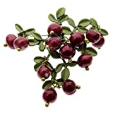 hochwertigen Legierung Material Vintage Lila Farbe Lack Natural Pearl Cranberry Damen-Brosche