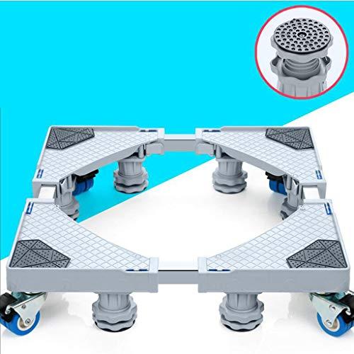 Xuping shop Möbel-Transportwagen-Rollen-bewegliche Basisgröße justierbar mit 4 verriegelnden Rädern und 8 starken Füßen, Sockel-teleskopische Basis für tragbare Waschmaschine Kühlschrank-Waschmaschine