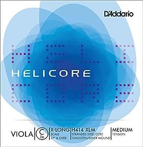 D'Addario Helicore H414 Corde de Do à tirant moyen pour alto de très grande taille
